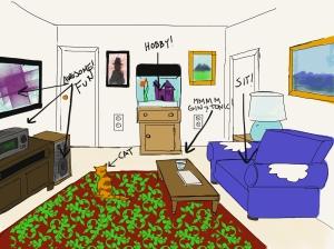 Living room Dad