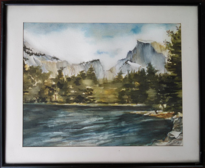 A watercolor by Gramps