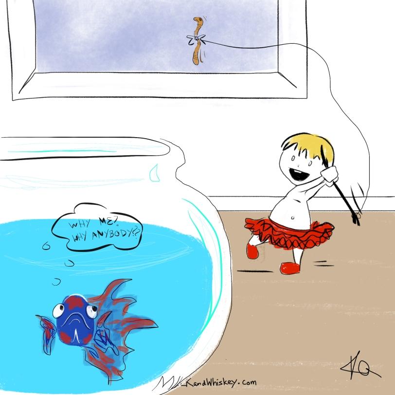 Betta fishing with Jo