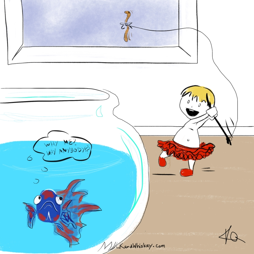 Betta fishing with Jo