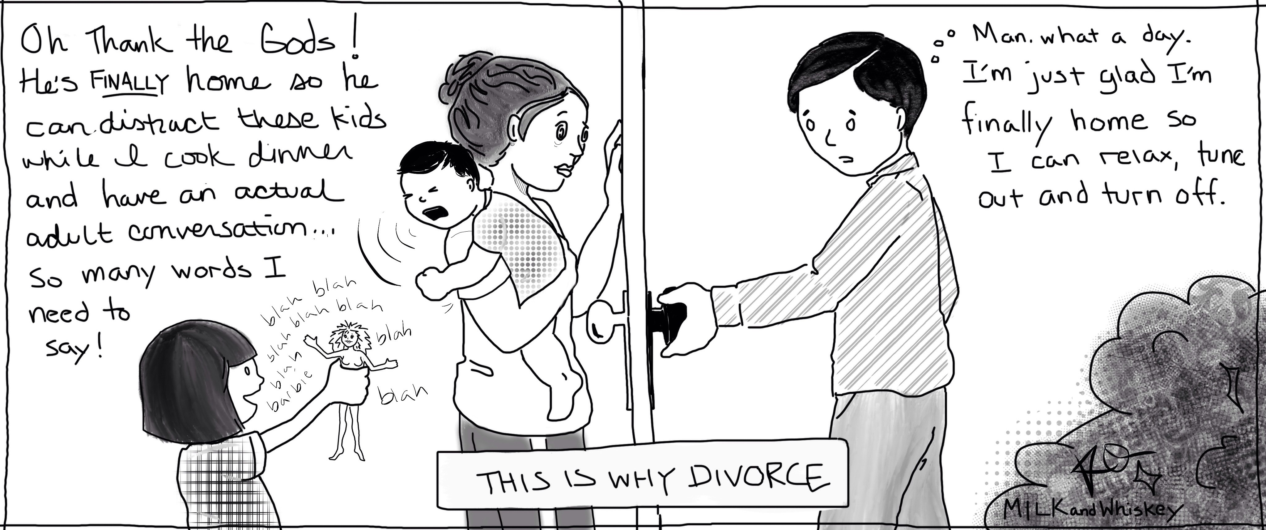how not to get divorced milk whiskey