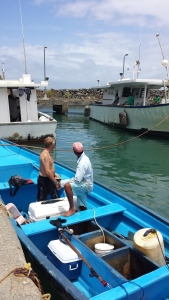 This boat was supposed to be a 48 foot yacht, but our original guide nearly had his leg taken off by a shark.